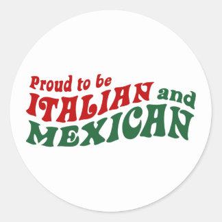 Italian Mexican Classic Round Sticker