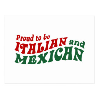 Italian Mexican Post Card