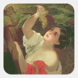 Italian Midday, 1831 Square Sticker