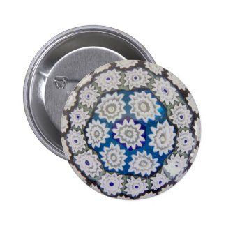 Italian Millefiore Glass Paperweight Button