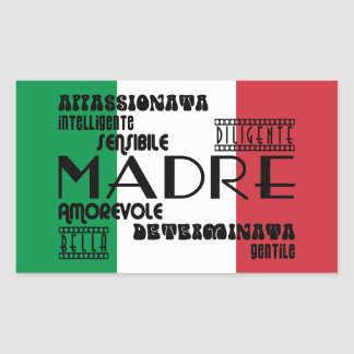 Italian Mothers : Qualities Rectangular Sticker