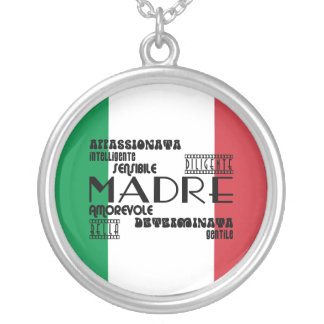 Italian Mothers : Qualities Round Pendant Necklace