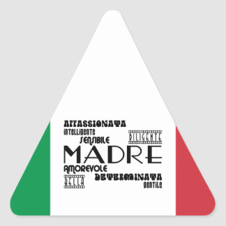 Italian Mothers : Qualities Triangle Sticker