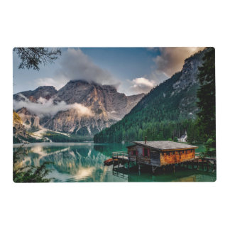 Italian Mountains Lake Landscape Photo Placemat