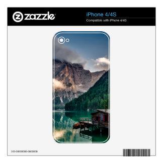 Italian Mountains Lake Landscape Photo Skins For iPhone 4S