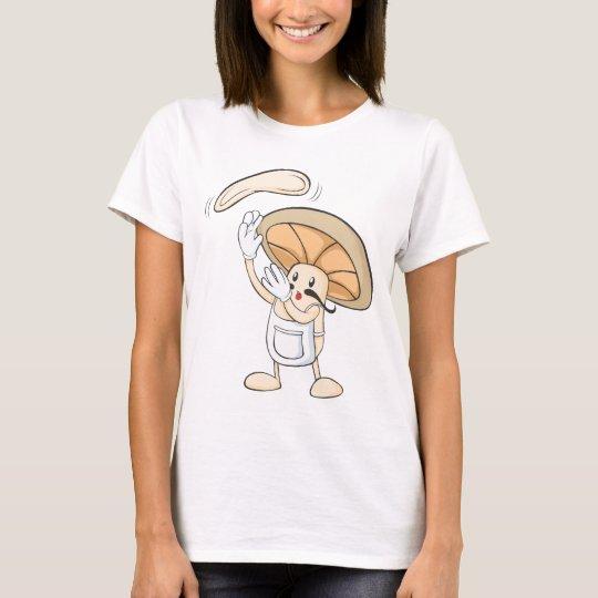 Italian Mushroom Chef Tossing Pizza Dough T-Shirt