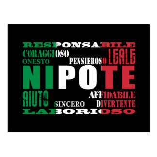 Italian Nephews & Grandsons : Qualities Postcard
