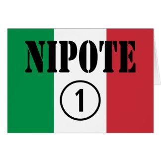 Italian Nephews Nieces & Grandchildren : Nipote #1 Card