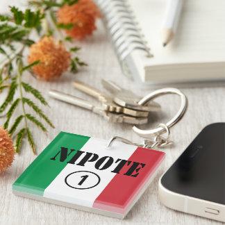 Italian Nephews Nieces & Grandchildren : Nipote #1 Keychain