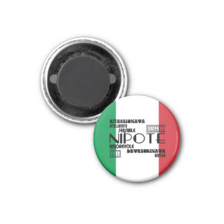 Italian Nieces & Granddaughters : Qualities 1 Inch Round Magnet
