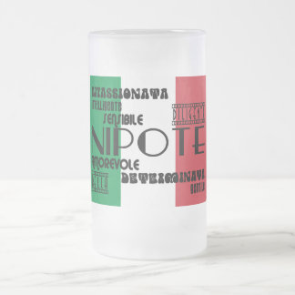 Italian Nieces & Granddaughters : Qualities Frosted Glass Beer Mug