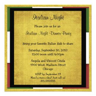 Italian Night Dinner Party Invitation Square Size