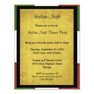 Italian Night Party Invitation
