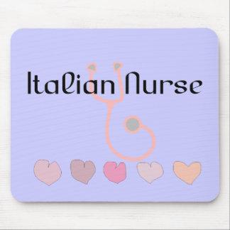 Italian Nurse Gifts--Hearts & Stethoscope Design Mouse Pad