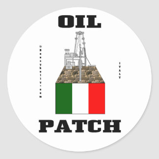 Italian Oil Fields Sticker,Oil Rigs,Oil,Decal,Gas