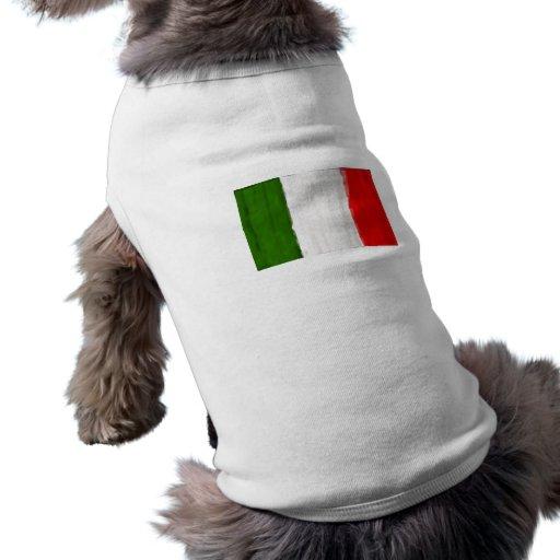 Italian oil painting style flag of Italy Doggie Tee