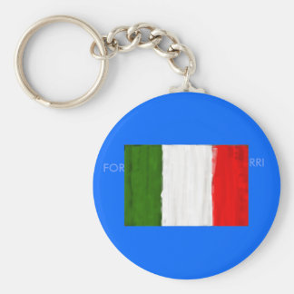 Italian oil painting style flag of Italy Key Chain