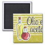 Italian Oil & Vinegar Kitchen Magnet