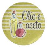 Italian Oil & Vinegar Plate