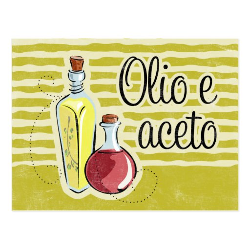 Italian Oil & Vinegar Recipe Card Postcard