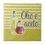 Italian Oil & Vinegar Tile Trivet