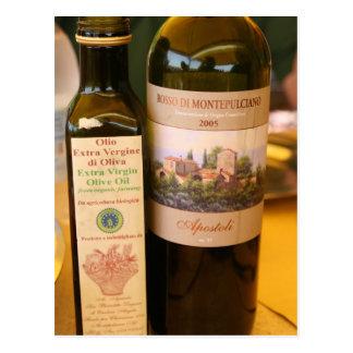 Italian ~ Oil & Wine Postcard