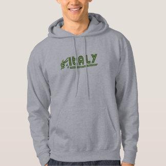 Italian Olive Branch Retro Hooded Sweatshirt