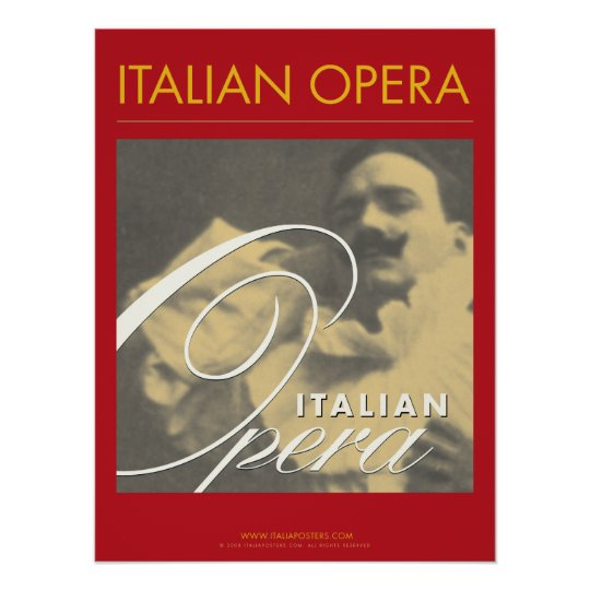 Italian Opera Art Poster