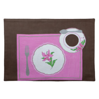 Italian Orchid Dishes Placemat