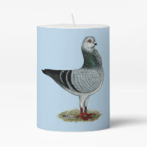 Italian Owl Grizzle Pigeon Pillar Candle