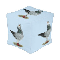 Italian Owl Grizzle Pigeon Pouf