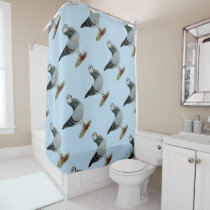 Italian Owl Grizzle Pigeon Shower Curtain