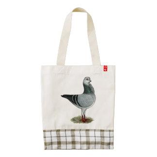 Italian Owl Grizzle Pigeon Zazzle HEART Tote Bag