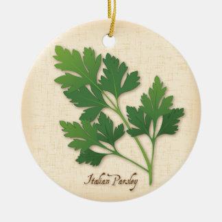 Italian Parsley Herb Ceramic Ornament