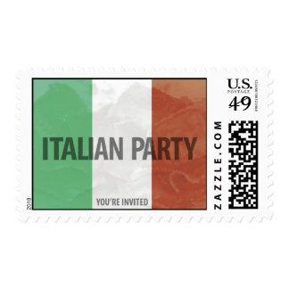 ITALIAN party invitation Postage