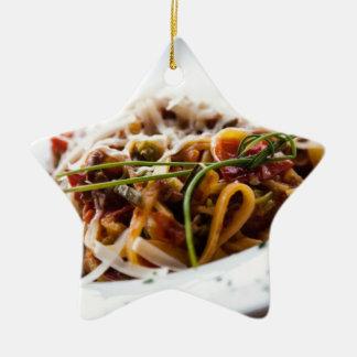 Italian Pasta Ceramic Ornament