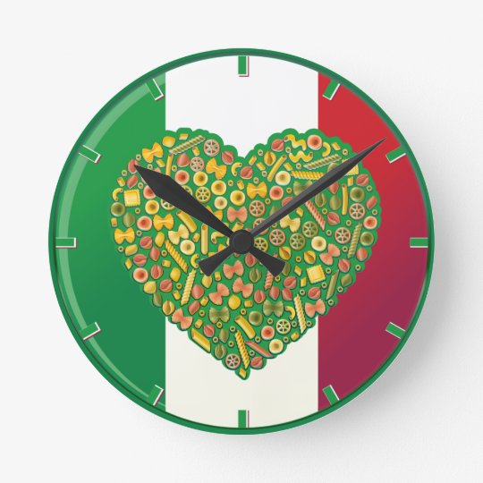 Italian Pasta Food Wall Clock