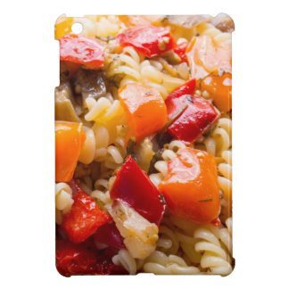 Italian pasta fusilli with vegetable ragout of pep case for the iPad mini