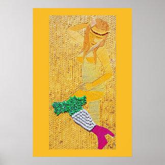 Italian Pasta Girl Poster