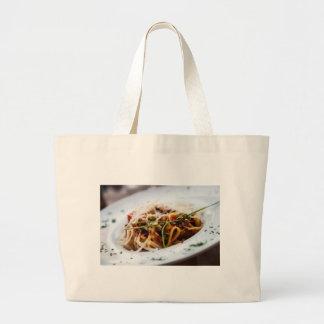 Italian Pasta Large Tote Bag