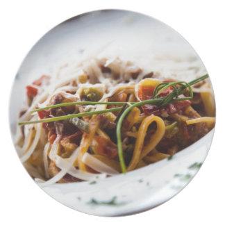 Italian Pasta Melamine Plate