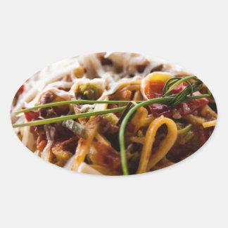 Italian Pasta Oval Sticker