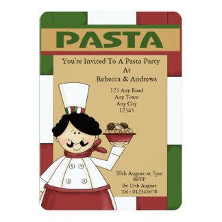 Italian Pasta Party Card