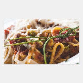 Italian Pasta Rectangular Sticker