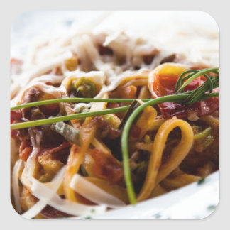 Italian Pasta Square Sticker