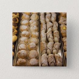Italian pastries pinback button