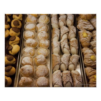 Italian pastries poster