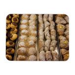 Italian pastries rectangular photo magnet