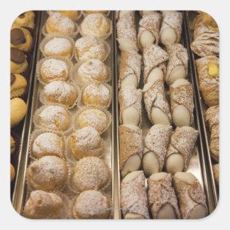 Italian pastries square sticker
