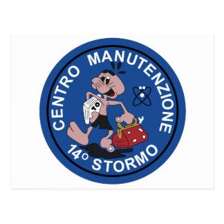 Italian Patch Air Force Aeronautica Militare AM 14 Postcard